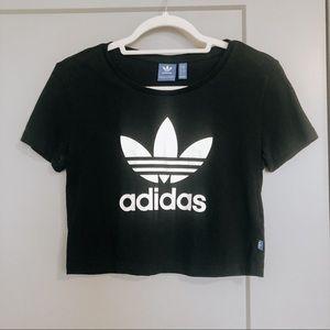 Adidas Logo Black Crop Top